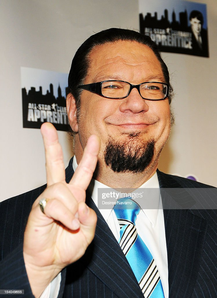 TV Personality Penn Jillette attends the 'Celebrity Apprentice All Stars' Season 13 Press Conference at Jack Studios on October 12, 2012 in New York City.