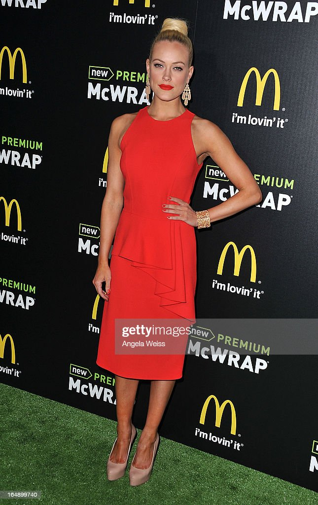 TV personality Peta Murgatroyd attends the launch party of McDonald's Premium McWrap at Paramount Studios on March 28, 2013 in Hollywood, California.