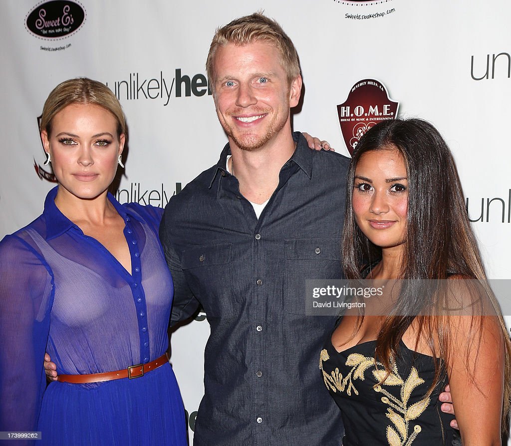 TV personality <a gi-track='captionPersonalityLinkClicked' href=/galleries/search?phrase=Peta+Murgatroyd&family=editorial&specificpeople=6824437 ng-click='$event.stopPropagation()'>Peta Murgatroyd</a>, former Major League Baseball player <a gi-track='captionPersonalityLinkClicked' href=/galleries/search?phrase=Sean+Lowe+-+Reality+Star&family=editorial&specificpeople=11003550 ng-click='$event.stopPropagation()'>Sean Lowe</a> and TV personality <a gi-track='captionPersonalityLinkClicked' href=/galleries/search?phrase=Catherine+Giudici&family=editorial&specificpeople=10551820 ng-click='$event.stopPropagation()'>Catherine Giudici</a> attend the Chelsie Hightower and <a gi-track='captionPersonalityLinkClicked' href=/galleries/search?phrase=Peta+Murgatroyd&family=editorial&specificpeople=6824437 ng-click='$event.stopPropagation()'>Peta Murgatroyd</a> Charity Birthday Party on July 18, 2013 in Los Angeles, California.
