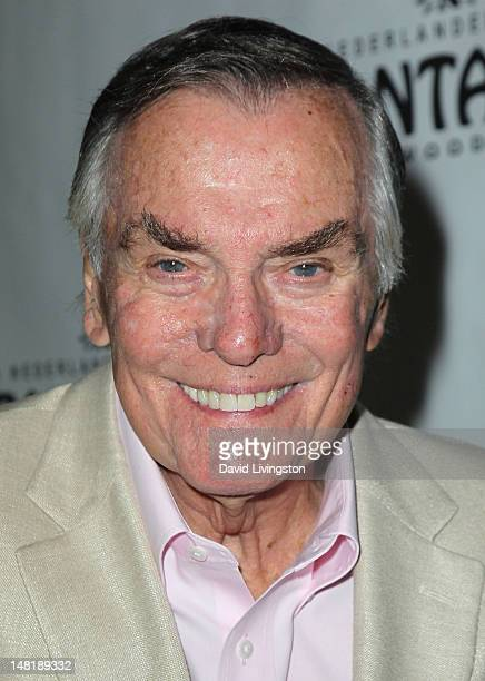 TV personality Peter Marshall attends the opening night of 'La Cage Aux Folles' at the Pantages Theatre on July 11 2012 in Hollywood California