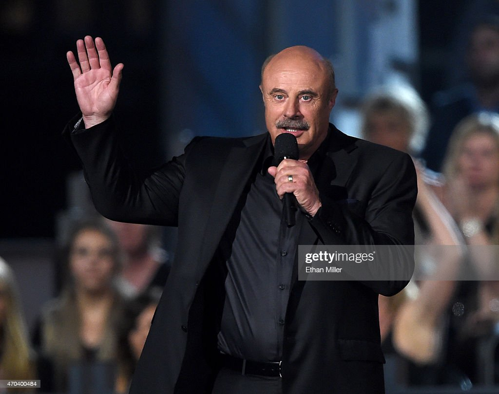 TV personality <a gi-track='captionPersonalityLinkClicked' href=/galleries/search?phrase=Phil+McGraw&family=editorial&specificpeople=234933 ng-click='$event.stopPropagation()'>Phil McGraw</a> speaks onstage during the 50th Academy of Country Music Awards at AT&T Stadium on April 19, 2015 in Arlington, Texas.