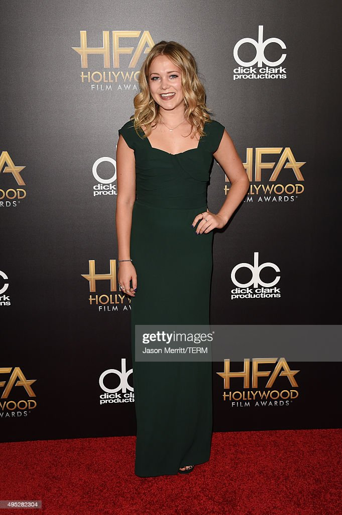 TV personality Poppy Jamie attends the 19th Annual Hollywood Film Awards at The Beverly Hilton Hotel on November 1 2015 in Beverly Hills California