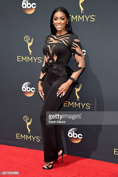 TV personality Porsha Williams attends the 68th Annual Primetime Emmy Awards at Microsoft Theater on September 18 2016 in Los Angeles California