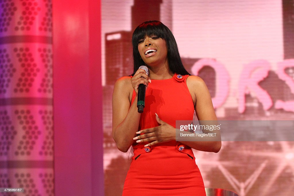 TV personality Porsha Williams performs during 106 & Park at BET studio on March 19, 2014 in New York City.
