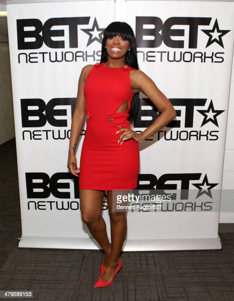 TV personality Porsha Williams visits on March 19 2014 in New York City