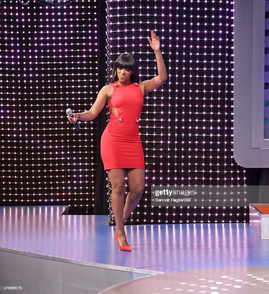 TV personality Porsha Williams visits on March 19, 2014 in New York City.