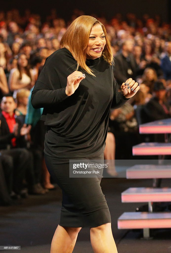 TV personality Queen Latifah accepts the Favorite New Talk Show Host award onstage at The 40th Annual People's Choice Awards at Nokia Theatre L.A. Live on January 8, 2014 in Los Angeles, California.
