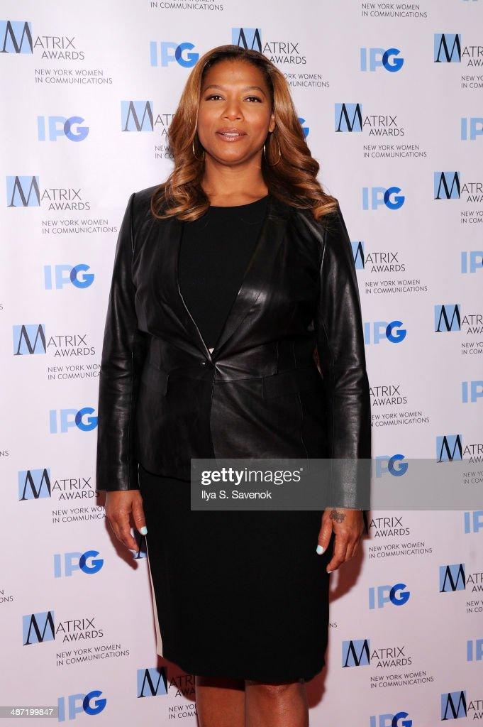 TV personality <a gi-track='captionPersonalityLinkClicked' href=/galleries/search?phrase=Queen+Latifah&family=editorial&specificpeople=171793 ng-click='$event.stopPropagation()'>Queen Latifah</a> attends the 2014 Matrix Awards at The Waldorf=Astoria on April 28, 2014 in New York City.