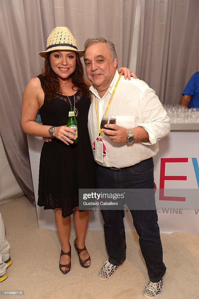 TV Personality Rachael Ray and Founder & Director of Food Network South Beach Wine & Food Festival Lee Brian Schrager attend Amstel Light Burger Bash presented by Pat LaFrieda Meats hosted by Rachael Ray during the Food Network South Beach Wine & Food Festival at Beachside at The Ritz Carlton on February 21, 2014 in Miami Beach, Florida.