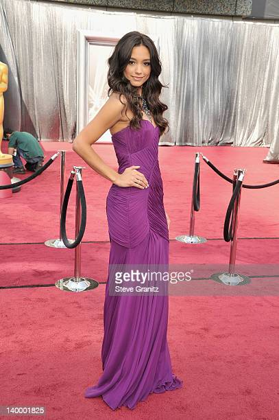 TV personality Rachel Smith arrives at the 84th Annual Academy Awards held at the Hollywood Highland Center on February 26 2012 in Hollywood...