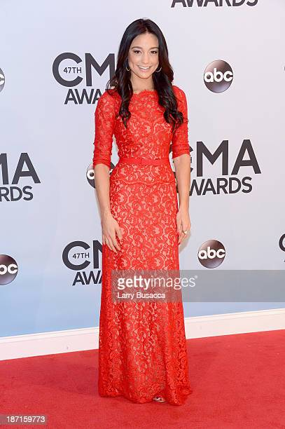Personality Rachel Smith attends the 47th annual CMA Awards at the Bridgestone Arena on November 6 2013 in Nashville Tennessee