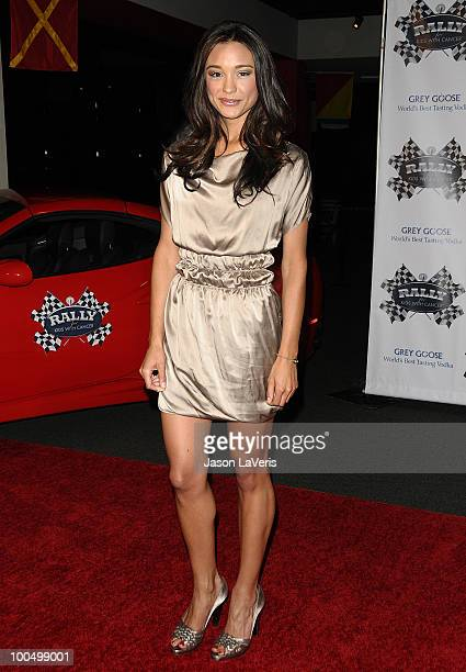 TV personality Rachel Smith attends the Rally for Kids with Cancer Scavenger Cup press conference at Petersen Automotive Museum on May 24 2010 in Los...