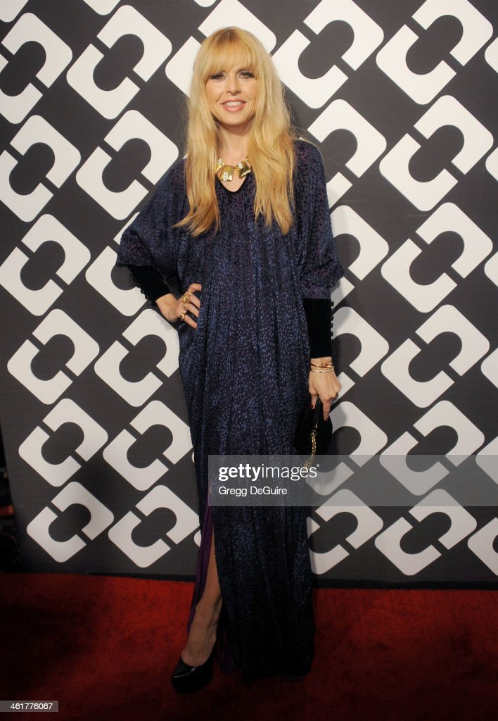 TV personality <a gi-track='captionPersonalityLinkClicked' href=/galleries/search?phrase=Rachel+Zoe+-+Stylist&family=editorial&specificpeople=546501 ng-click='$event.stopPropagation()'>Rachel Zoe</a> arrives at Diane Von Furstenberg's 'Journey Of A Dress' premiere opening party at Wilshire May Company Building on January 10, 2014 in Los Angeles, California.