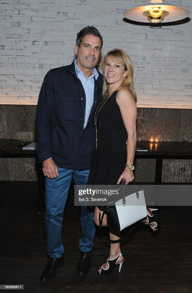TV Personality <a gi-track='captionPersonalityLinkClicked' href=/galleries/search?phrase=Ramona+Singer&family=editorial&specificpeople=4949817 ng-click='$event.stopPropagation()'>Ramona Singer</a> (R) and Mario Singer pose for a photo as DuJour's Jason Binn & Toranosuke Matsuoka debut the new fall homecoming menu at SEN NYC on October 7, 2013 in New York City.