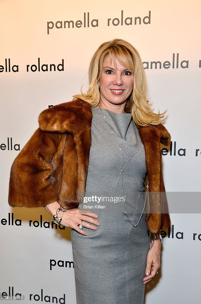 TV personality Ramona Singer attends Pamella Roland during Fall 2013 Mercedes-Benz Fashion Week at The Studio at Lincoln Center on February 11, 2013 in New York City.