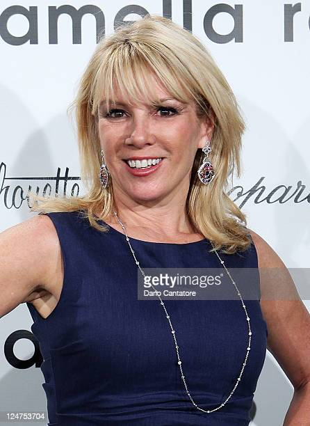 TV personality Ramona Singer attends the Pamella Roland Spring 2012 presentation during Mercedes Benz Fashion Week at The Box at Lincoln Center on...