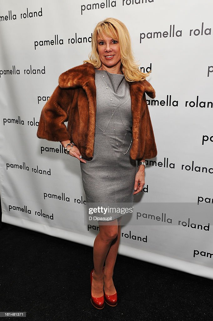 TV personality Ramona Singer poses backstage at the Pamella Roland Fall 2013 fashion show during Mercedes-Benz Fashion Week at at The Studio at Lincoln Center on February 11, 2013 in New York City.