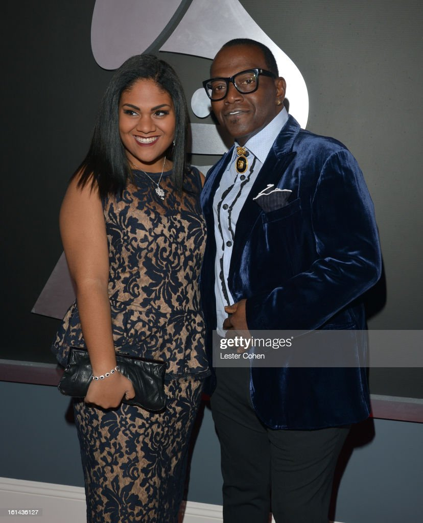 TV Personality Randy Jackson (R) and guest attend the 55th Annual GRAMMY Awards at STAPLES Center on February 10, 2013 in Los Angeles, California.