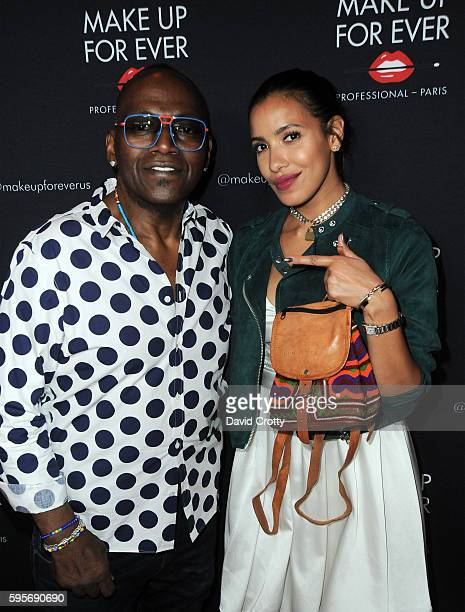 TV personality Randy Jackson and Julissa Bermudez attend the Make Up For Ever party at Siren Orange Studios on August 25 2016 in Los Angeles...