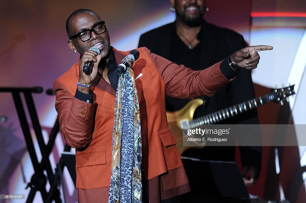 TV personality Randy Jackson speaks onstage during the 21st annual Race to Erase MS at the Hyatt Regency Century Plaza on May 2, 2014 in Century City, California.