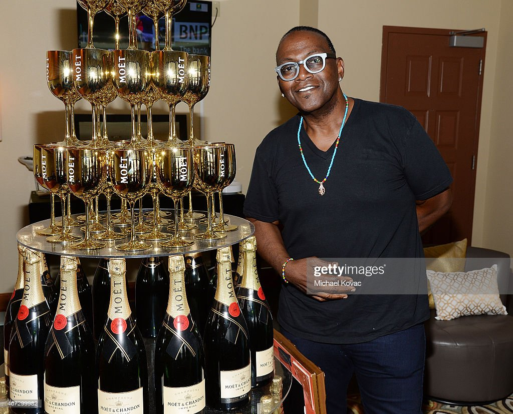 TV personality Randy Jackson visits The Moet and Chandon Suite at the 2015 BNP Paribas Open on March 22 2015 in Indian Wells California