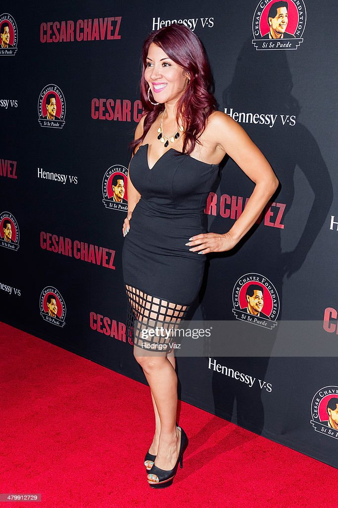 TV personality Raquel Cordova aka Raq-C attends the 'Cesar Chavez' Los Angeles Premiere at TCL Chinese Theatre on March 20, 2014 in Hollywood, California.