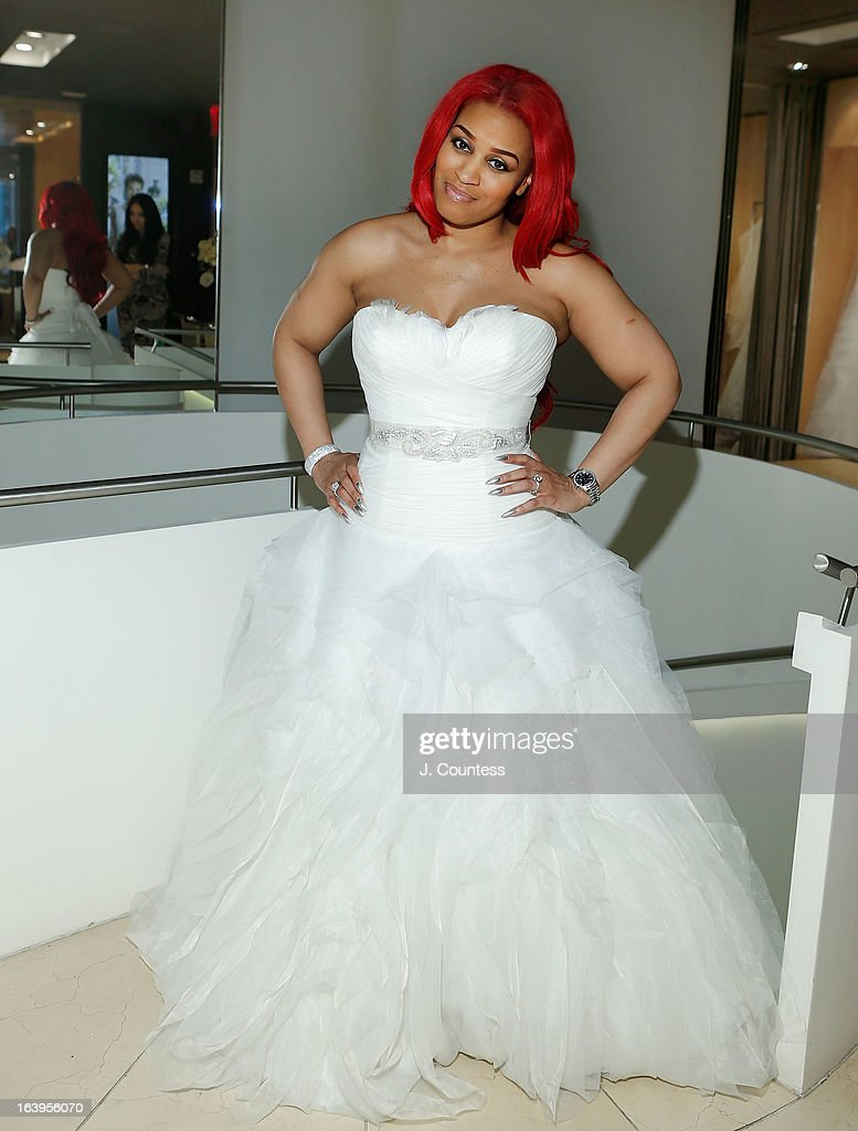 Rashidah ali shops for wedding dresses getty images for New york city wedding dress shops