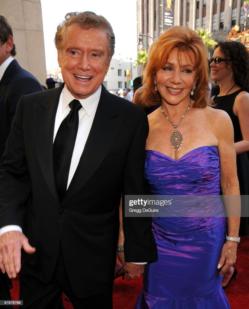 TV personality Regis Philbin and Joy Philbin arrive at the 35th Annual Daytime Emmy Awards at the Kodak Theatre on June 20, 2008 in Los Angeles, California.