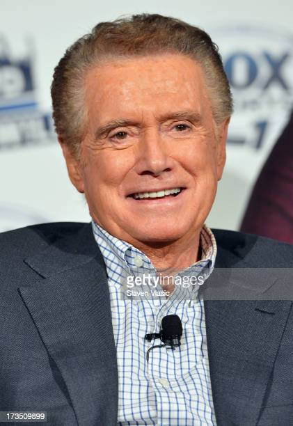 TV personality Regis Philbin attends 'Crowd Goes Wld' press preview at Lounge 48 on July 15 2013 in New York City