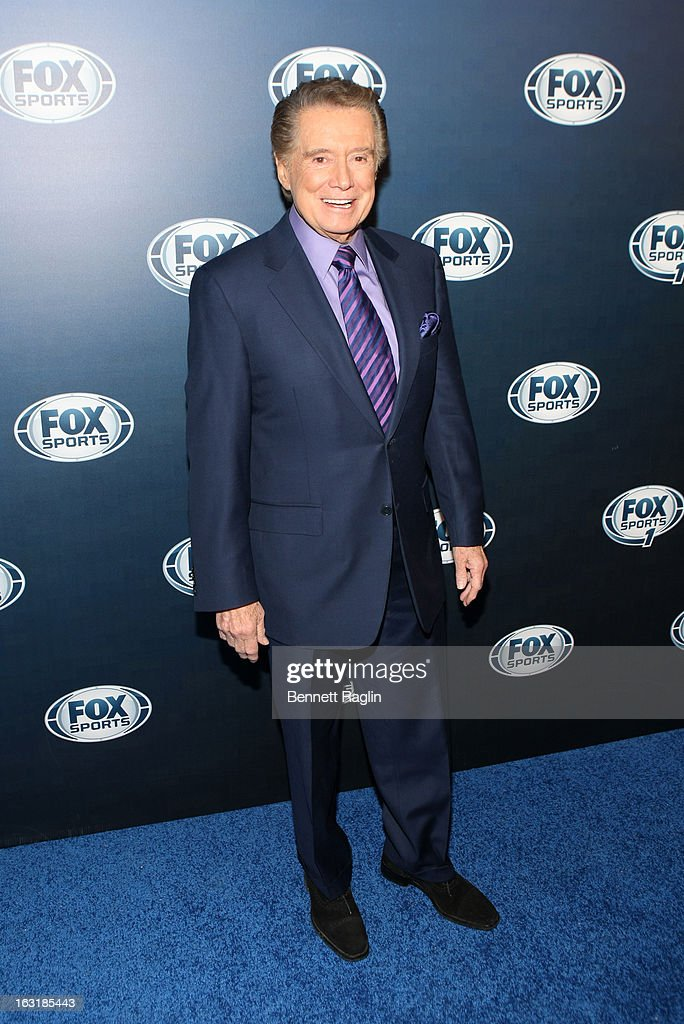 TV personality <a gi-track='captionPersonalityLinkClicked' href=/galleries/search?phrase=Regis+Philbin&family=editorial&specificpeople=202495 ng-click='$event.stopPropagation()'>Regis Philbin</a> attends the 2013 Fox Sports Media Group Upfront after party at Roseland Ballroom on March 5, 2013 in New York City.