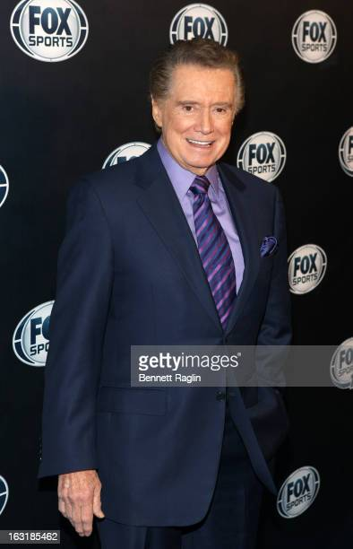 TV personality Regis Philbin attends the 2013 Fox Sports Media Group Upfront after party at Roseland Ballroom on March 5 2013 in New York City