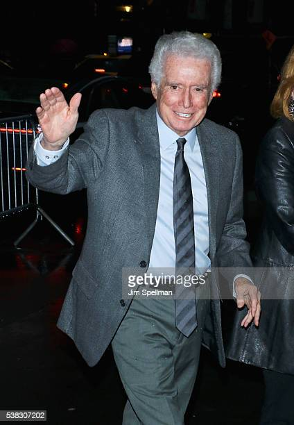 TV personality Regis Philbin attends the 'Genius' New York premiere at Museum of Modern Art on June 5 2016 in New York City