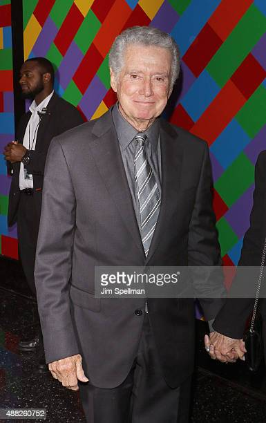 TV personality Regis Philbin attends the 'Sicario' New York premiere at Museum of Modern Art on September 14 2015 in New York City