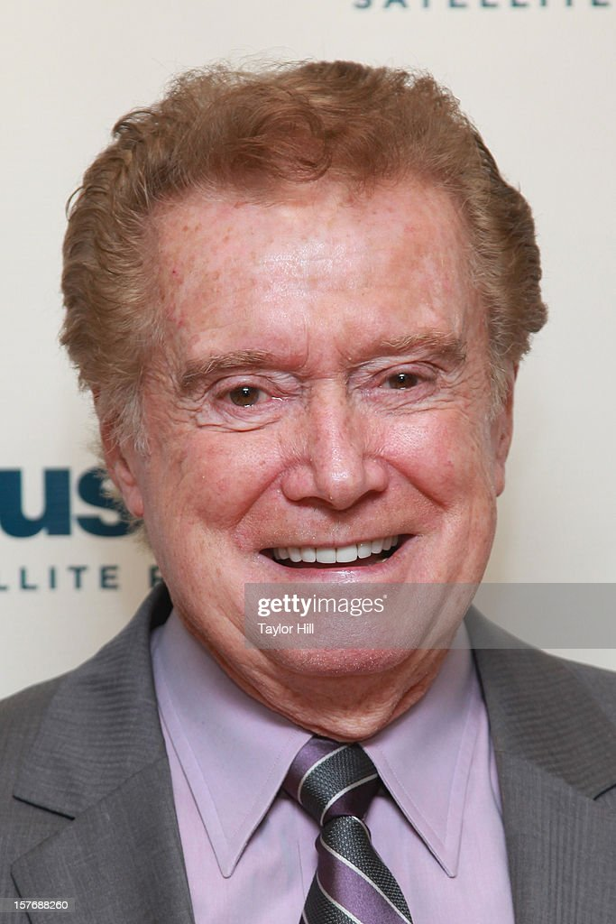 TV personality <a gi-track='captionPersonalityLinkClicked' href=/galleries/search?phrase=Regis+Philbin&family=editorial&specificpeople=202495 ng-click='$event.stopPropagation()'>Regis Philbin</a> hosts 'Bing Crosby Christmas Radio' at the SiriusXM Studios on December 5, 2012 in New York City.