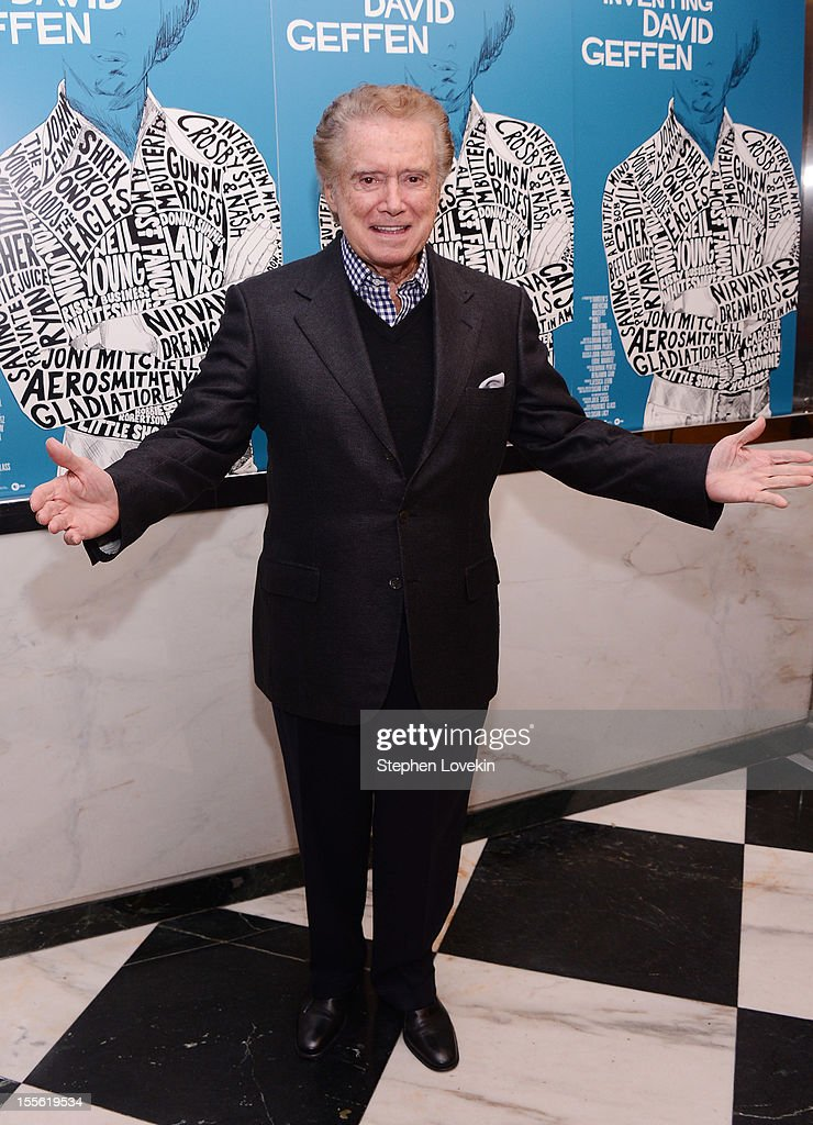 TV personality Regis Philbinl attends the 'Inventing David Geffen' New York Premiere at Paris Theater on November 5, 2012 in New York City.