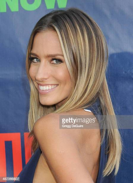 TV personality Renee Bargh arrives at the 2014 Television Critics Association Summer Press Tour CBS CW And Showtime Party at Pacific Design Center on...