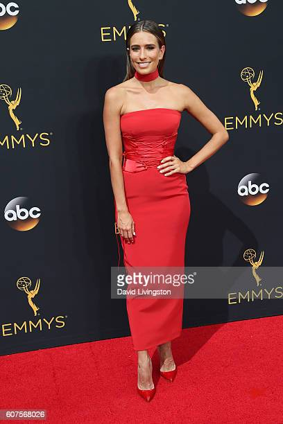 TV personality Renee Bargh arrives at the 68th Annual Primetime Emmy Awards at the Microsoft Theater on September 18 2016 in Los Angeles California