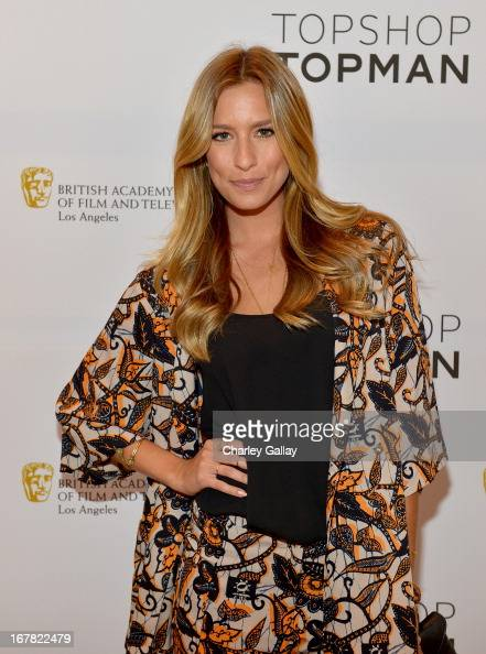 TV personality Renee Bargh attends BAFTA Los Angeles and Sir Philip Green Celebrate the British New Wave at Topshop Topman at The Grove on April 30...