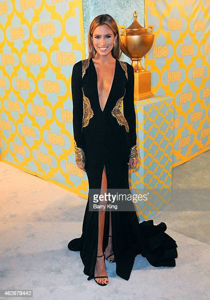 TV personality Renee Bargh attends HBO's post Golden Globe Awards party at The Beverly Hilton Hotel on January 11 2015 in Beverly Hills California