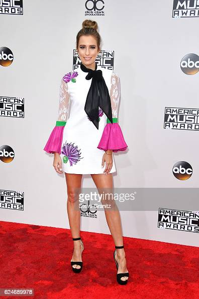 TV personality Renee Bargh attends the 2016 American Music Awards at Microsoft Theater on November 20 2016 in Los Angeles California