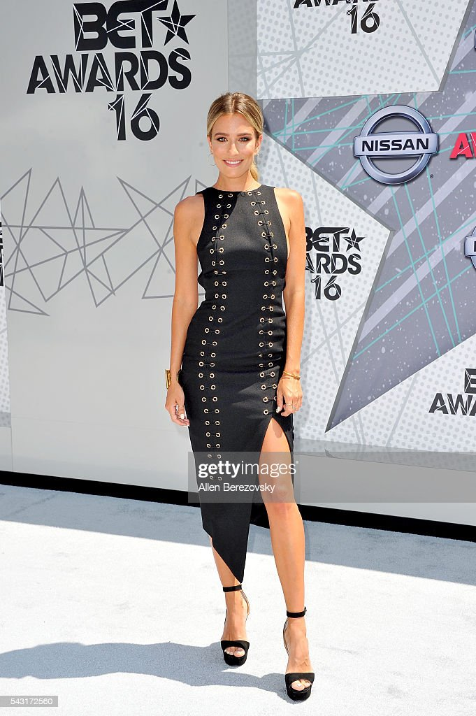 TV personality <a gi-track='captionPersonalityLinkClicked' href=/galleries/search?phrase=Renee+Bargh&family=editorial&specificpeople=4267341 ng-click='$event.stopPropagation()'>Renee Bargh</a> attends the 2016 BET Awards at Microsoft Theater on June 26, 2016 in Los Angeles, California.