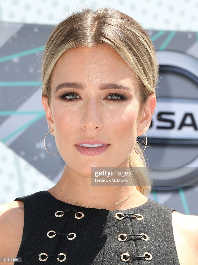 TV personality <a gi-track='captionPersonalityLinkClicked' href=/galleries/search?phrase=Renee+Bargh&family=editorial&specificpeople=4267341 ng-click='$event.stopPropagation()'>Renee Bargh</a> attends the 2016 BET Awards at the Microsoft Theater on June 26, 2016 in Los Angeles, California.