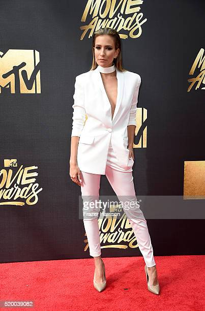 TV personality Renee Bargh attends the 2016 MTV Movie Awards at Warner Bros Studios on April 9 2016 in Burbank California MTV Movie Awards airs April...