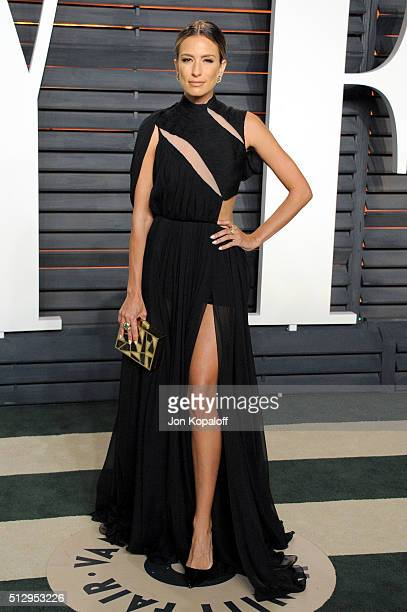 Personality Renee Bargh attends the 2016 Vanity Fair Oscar Party hosted By Graydon Carter at Wallis Annenberg Center for the Performing Arts on...
