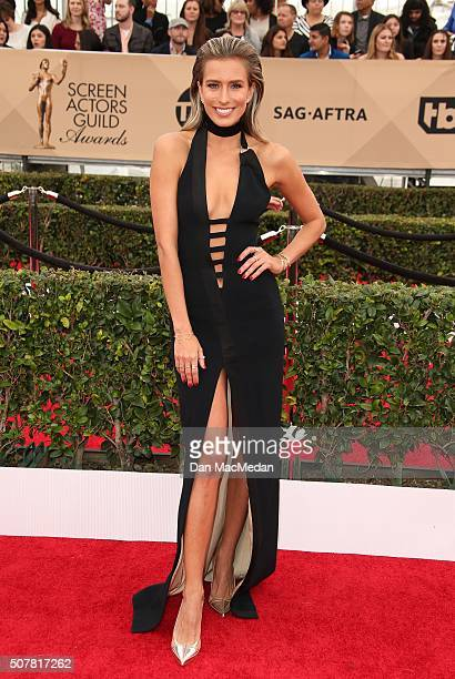 TV personality Renee Bargh attends the 22nd Annual Screen Actors Guild Awards at The Shrine Auditorium on January 30 2016 in Los Angeles California