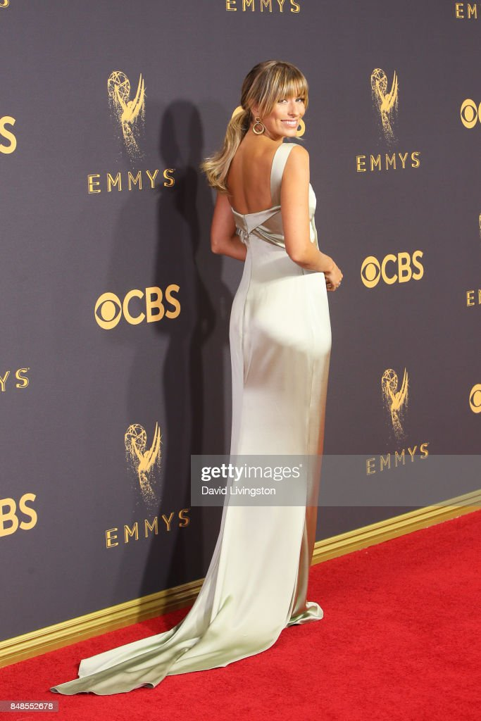 TV personality Renee Bargh attends the 69th Annual Primetime Emmy Awards - Arrivals at Microsoft Theater on September 17, 2017 in Los Angeles, California.