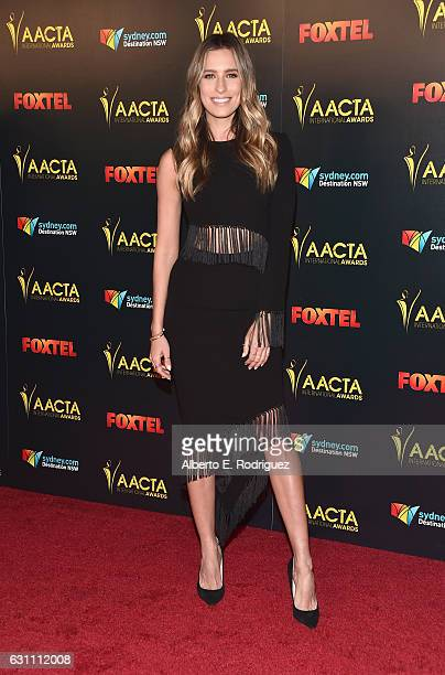 TV personality Renee Bargh attends the 6th AACTA International Awards at Avalon Hollywood on January 6 2017 in Los Angeles California
