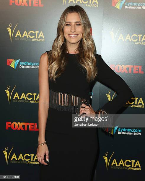 TV personality Renee Bargh attends The 6th AACTA International Awards on January 6 2017 in Los Angeles California
