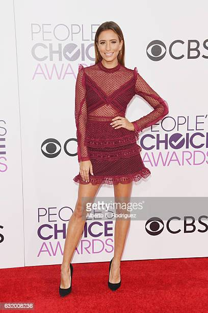 TV personality Renee Bargh attends the People's Choice Awards 2017 at Microsoft Theater on January 18 2017 in Los Angeles California