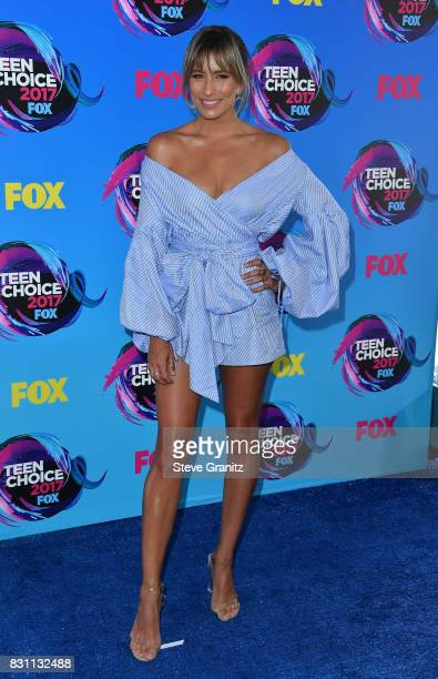 TV personality Renee Bargh attends the Teen Choice Awards 2017 at Galen Center on August 13 2017 in Los Angeles California
